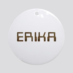 Erika Circuit Round Ornament