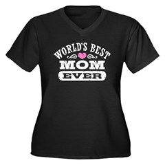World's Best Mom Ever Women's Plus Size V-Neck Dar
