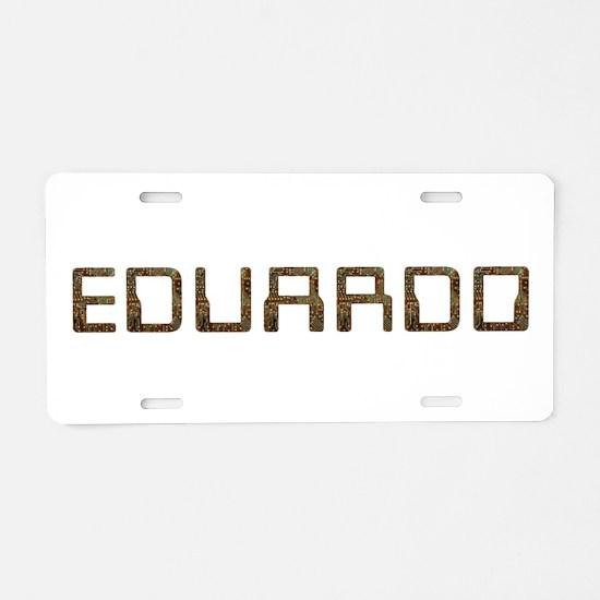 Eduardo Circuit Aluminum License Plate