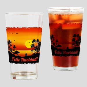 Feliz Navidad Drinking Glass