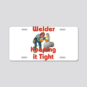 The Welder Aluminum License Plate