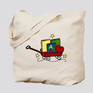 Book Wagon Tote Bag