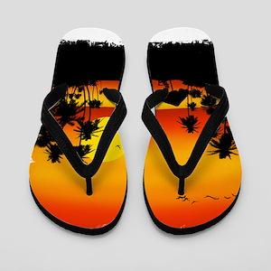Island Sunset Flip Flops