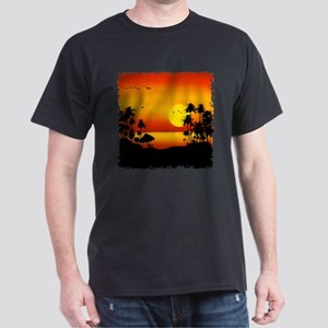Island Sunset Dark T-Shirt