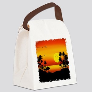 Island Sunset Canvas Lunch Bag