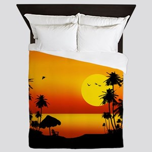 Island Sunset Queen Duvet