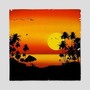 Island Sunset Queen Duvet