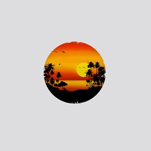 Island Sunset Mini Button