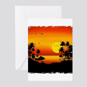 Island Sunset Greeting Cards (Pk of 20)