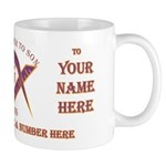 Masonic custom gift mug for a Lewis