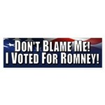 Don't Blame Me Sticker (Bumper)