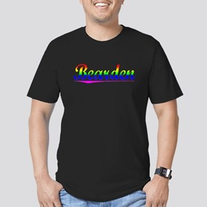Bearden, Rainbow, Men's Fitted T-Shirt (dark)