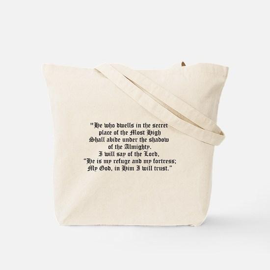 Unique Psalms 1 Tote Bag