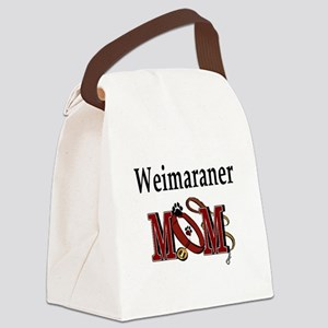 Weimaraner Mom Canvas Lunch Bag
