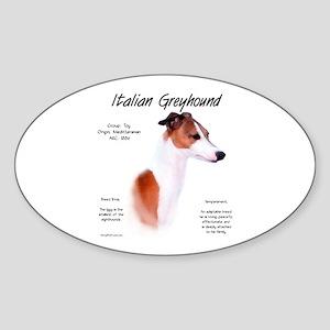 Italian Greyhound Sticker (Oval)