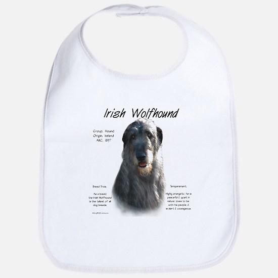 Irish Wolfhound (grey) Cotton Baby Bib