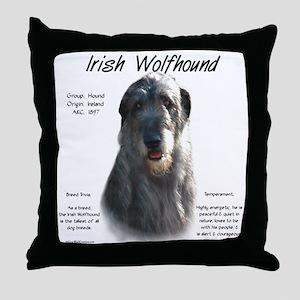 Irish Wolfhound (grey) Throw Pillow