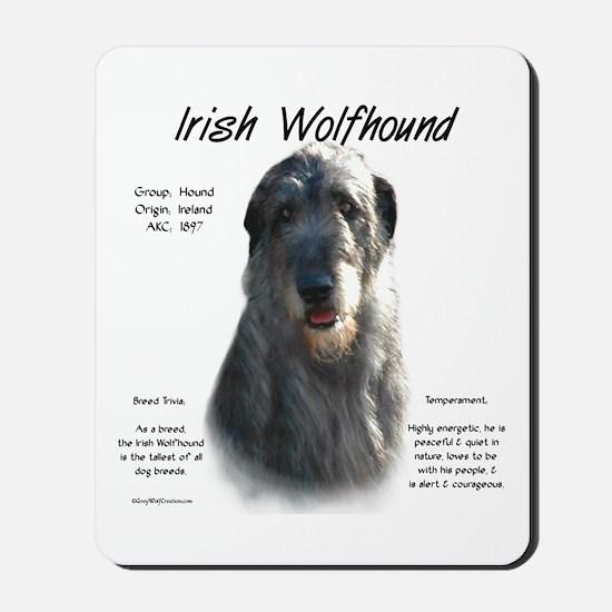Irish Wolfhound (grey) Mousepad