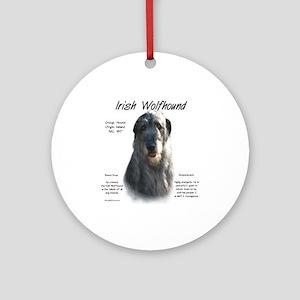 Irish Wolfhound (grey) Round Ornament