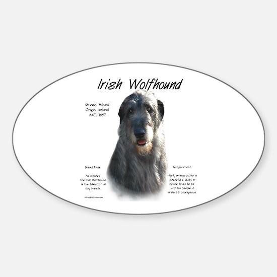 Irish Wolfhound (grey) Sticker (Oval)