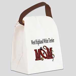 West Highland White Terrier Canvas Lunch Bag