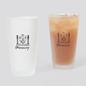 Freemasonry Symbolism Drinking Glass
