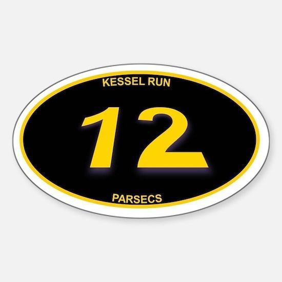 Kessel Run 12 Parsecs Sticker (Oval)