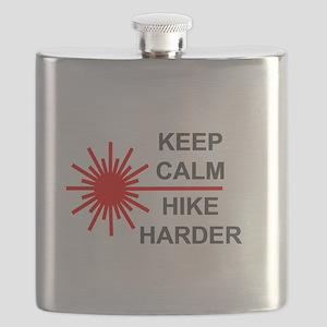 Laser Keep Calm Flask