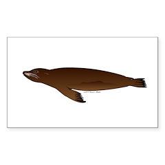 California Sea Lion Sticker (Rectangle)