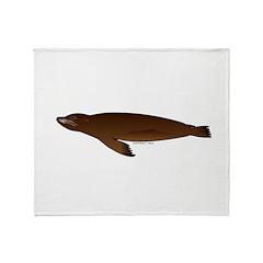 California Sea Lion Throw Blanket