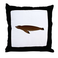 California Sea Lion Throw Pillow