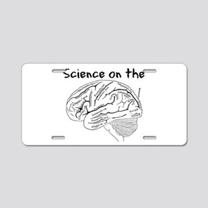 Science on the Brain Aluminum License Plate