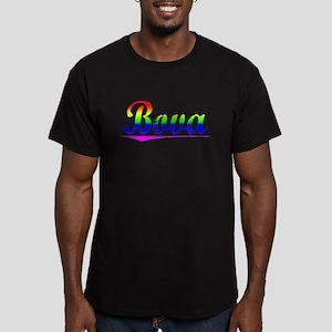 Bova, Rainbow, Men's Fitted T-Shirt (dark)