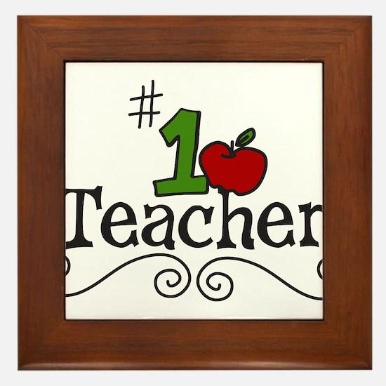 School Teacher Framed Tile