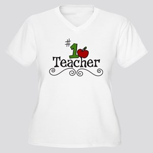 School Teacher Women's Plus Size V-Neck T-Shirt