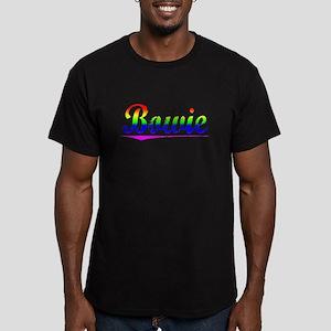 Bowie, Rainbow, Men's Fitted T-Shirt (dark)
