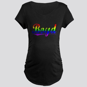 Boyd, Rainbow, Maternity Dark T-Shirt