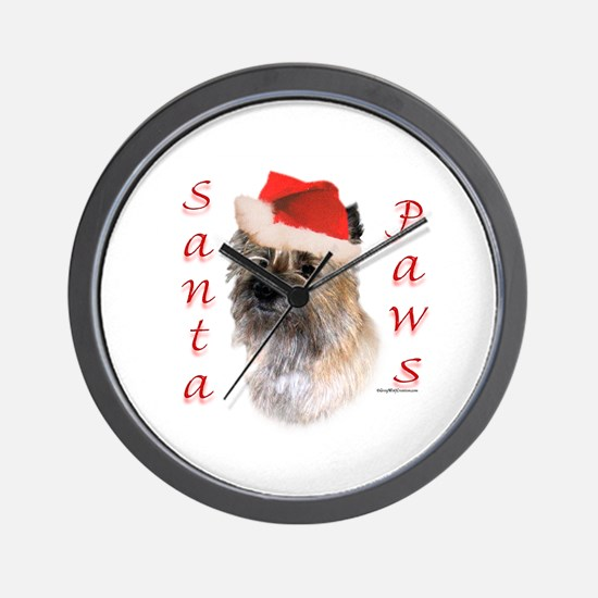 Cairn Paws Wall Clock