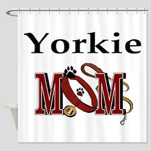 Yorkie Mom Shower Curtain