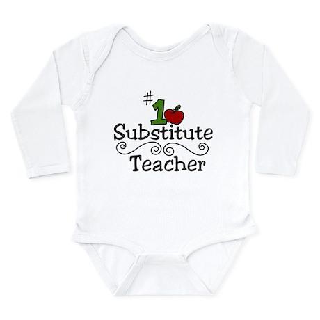 Substitute Teacher Long Sleeve Infant Bodysuit