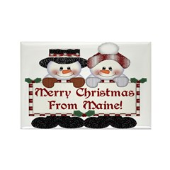 Merry Christmas From Maine! Magnets (10 pack)