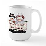 Merry Christmas From Maine! Large Mug