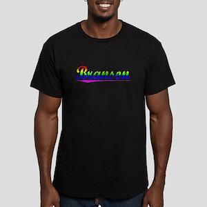 Branson, Rainbow, Men's Fitted T-Shirt (dark)