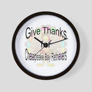 Thanks for Chesapeake Retriever Wall Clock
