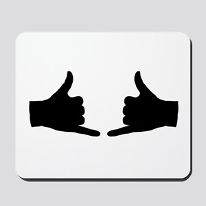 Shaka Hand Sign Mousepad