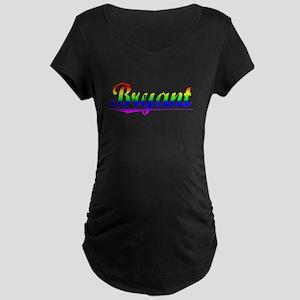 Bryant, Rainbow, Maternity Dark T-Shirt