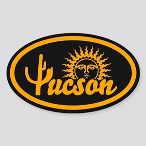 Tucson Desert Circle Sticker (Oval)