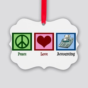 Peace Love Accounting Picture Ornament