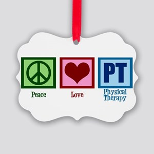 Peace Love PT Picture Ornament