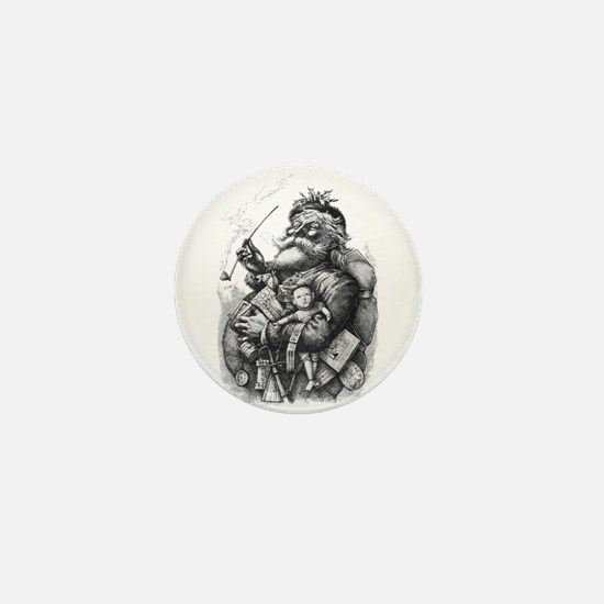 Nasty Santa Mini Button